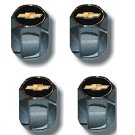 Chevy Gold Bowtie Logo Valve Stem Caps - (Set of 4)