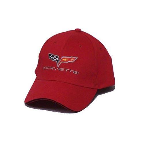 C6 Corvette Soft Cotton Sandwich Brim Hat - Red