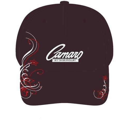 Women's Black Camaro Script Hat with Rhinestones