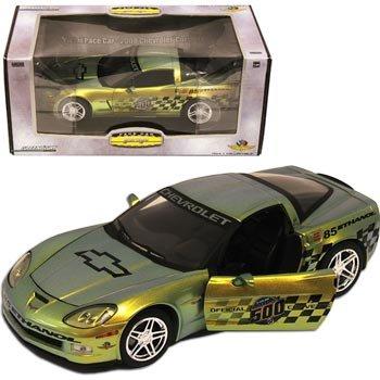 2008 Indy 500 Corvette ZO6 E85 Gold Rush 1:24 Diecast