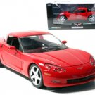 C6 2005 Victory Red Corvette Coupe 1:24 Diecast