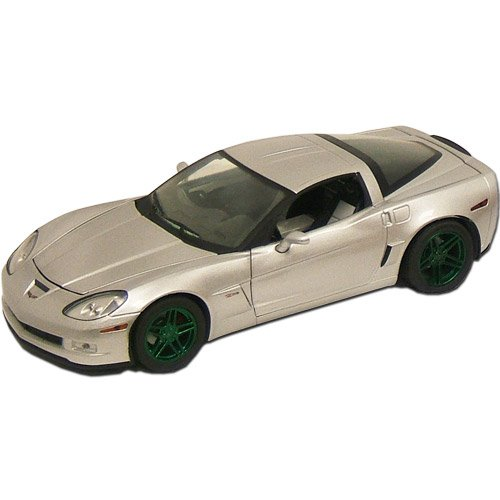 2009 Corvette Blade Silver Ltd. Ed. Z06 Green Mach. 1:24 Diecast