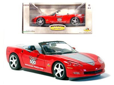 2005 Indy 500 Red and Silver C6 Corvette Conv. 1:24 Diecast