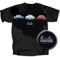 C2 Corvette Sting Ray on Black T-Shirt - XL