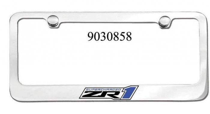 ZR1 Corvette Engraved License Plate Frame