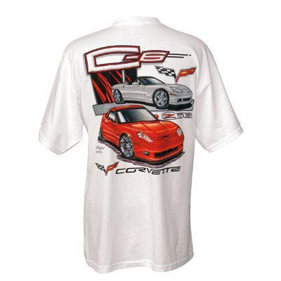 C6 Z06 and Convertible Corvette Cotton T-Shirt - M