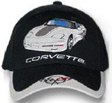 C5 Corvette Black/Gray Car Low Profile Cotton Hat