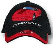 C5 Corvette Black/Red Car Low Profile Cotton Hat