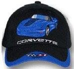 C5 Corvette Blk/Blue Car Low Profile Brushed Twill Hat