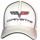 C6 Corvette White Flex Fit Hat