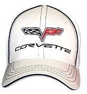 C6 Corvette White Flex Fit Hat