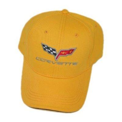 C6 Corvette Soft Cotton Sandwich Brim Hat - Yellow