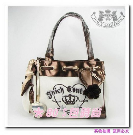 Juicy Couture Brown Velour Daydreamer Bag