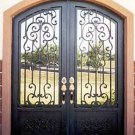 "Wrought Iron Doors. Arch Double door 75 1/2"" x 97 1/2"""