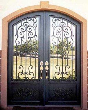 """Wrought Iron Doors. Arch Double door 75 1/2"""" x 97 1/2"""""""