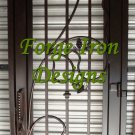 "Wine Cellar Wrought Iron Door Gate 30"" x 97"""