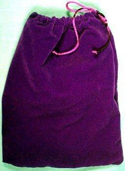 Purple Velveteen Drawstring Bag