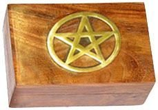 Fancy Wood Box: Pentagram