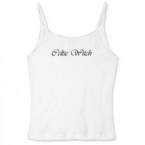 Celtic Witch Women's Fitted Spaghetti Strap Tank
