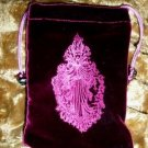 Velvet Embossed Moon Goddess Tarot Card Treasure Bag