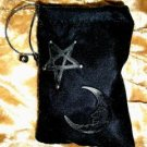 Velvet Embossed Star and Moon Tarot Card Treasure Bag