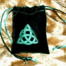 Velvet Embossed Triquetra Treasure Bag