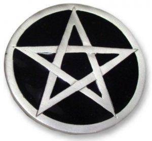 Black Pentagram Belt Buckle