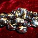 Lavender Glass Rune Stone Set