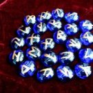 Cobalt Blue Glass Rune Stone Set