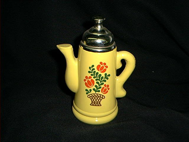 AVON PAINTED GLASS TALL COFFEE POT EARLY 1970'S