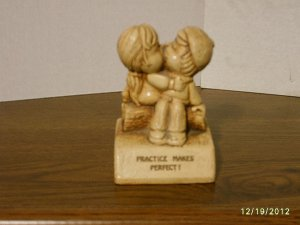 """Practice Makes Perfect"" Paula Resin Figurine W-384 1974"