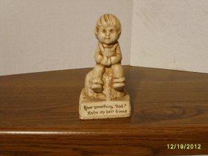 """""""Dad You're My Best Friend"""" Paula Resin Figurine W-643 1981"""