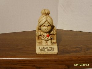 """I LOVE YOU THIS MUCH"" Paula Resin Figurine W-265 1972"
