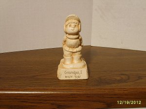 """""""Grandpa, I WUV You"""" Paula Resin Figurine W-655 1981"""