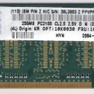 Laptop Memory 256MB PC 2100/2700 333 MHz CL2.5 OEM IBM / Hynix