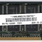 Laptop Memory 256MB PC 2100 Fits IBM FRU10K0031 DIMM SDRAM