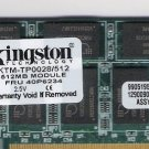 Laptop Memory 512 MB Fits IBM FRU 40P6234 - Kingston KTP