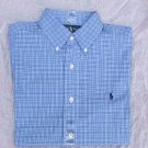 Polo Ralph Lauren Men's classic fit blue plaid shirt size S