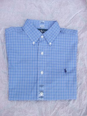 Polo Ralph Lauren Men's classic fit blue plaid shirt size S
