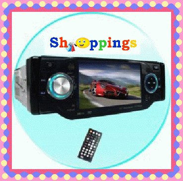 1-Din TV Tuner + Bluetooth Car DVD Player - Plays DivX + MP4