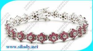 Ruby Star Bracelet