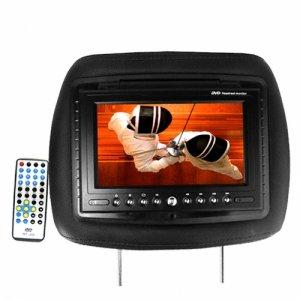 """Reposacabezas con pantalla de 7"""" DVD/MP3/TRANSMISOR DE AUDIO FM"""