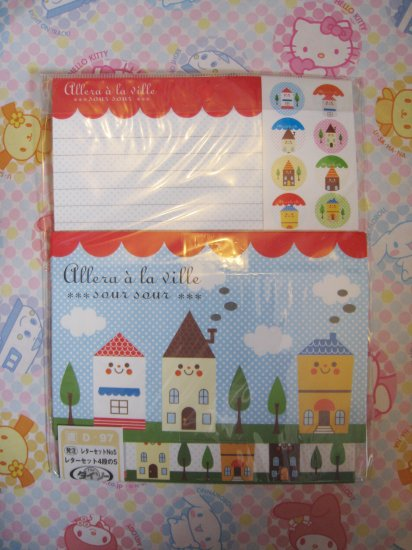Cute House Letter Set With Stickers