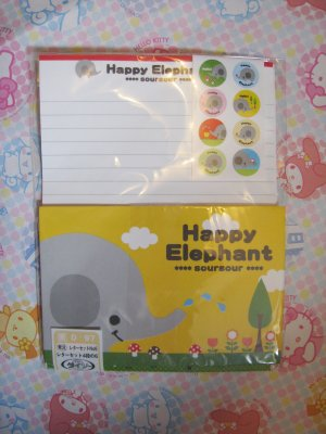 Happy Elephant Letter Set With Stickers