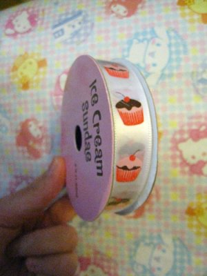 Ice Cream Sundae Ribbon - Cupcakes