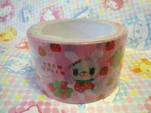 Cram Cream Deco Tape - Strawberry Bunny