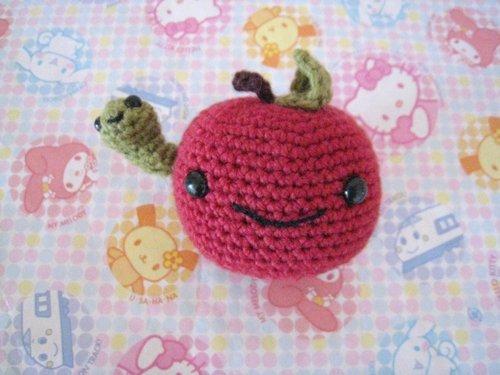Smile Apple Amigurumi Toy