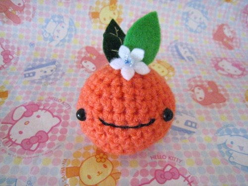 Orange Blossom Amigurumi Toy