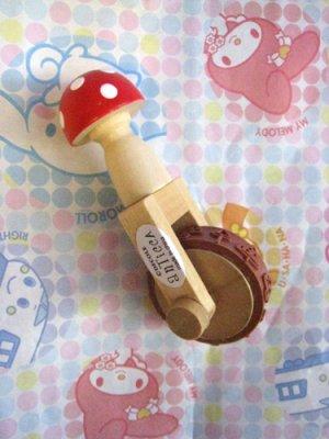 Decole Mushroom Rolling Rubber Stamp