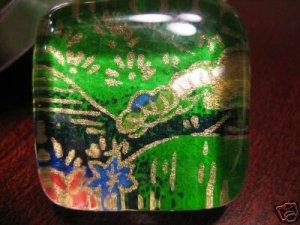 Handmade Glass Pendant Temple Garden w/ Matching Gift